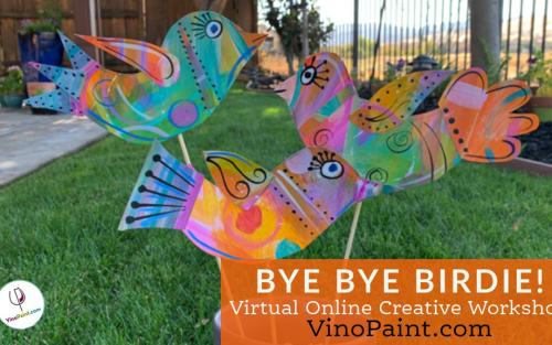 Bye Bye Birdie Mixed Media (Virtual)