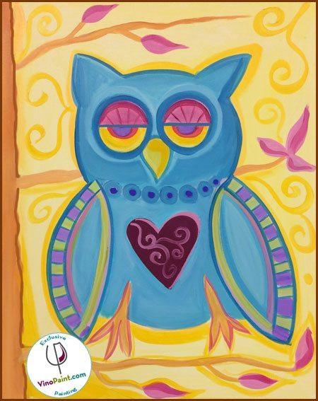 VinoPaint - Paisley Owl