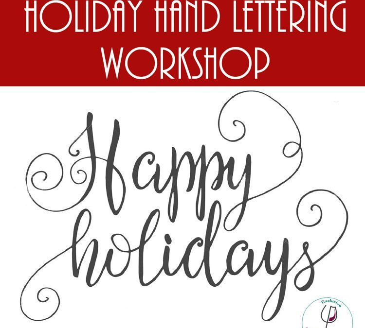 POSTPONED: VinoPaint Craft Workshop: Hand Lettering Basics 12/19/16, 6:30-8:30pm