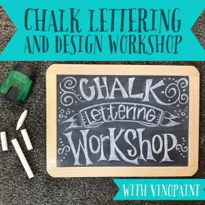 VinoPaint Exclusive - Chalk Lettering Workshop
