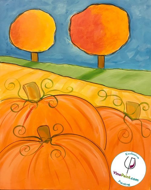VinoPaint Exclusive - Pumpkin Orchard