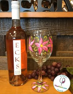 A VinoPaint Exclusive - Spring Wine Glass Painting