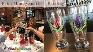 VinoPaint Exclusive - Monogram Glass Painting
