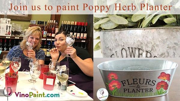 VinoPaint Exclusive - Poppy Herb Planter