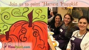 VinoPaint Exclusive - Virtual Pumpkin Harvest Painting