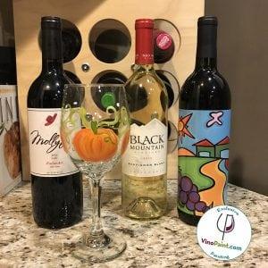 VinoPaint - Pumpkin Harvest Glass Painting 3
