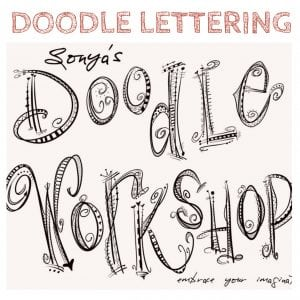 VinoPaint Exclusive - Doodle Lettering Monogram Workshop
