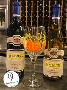 VinoPaint Exclusive - Pumpkin Harvest Wine Glass