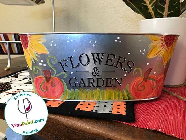 VinoPaint Exclusive - Fall Harvest Planter
