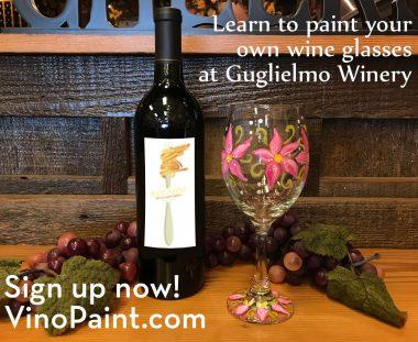 VinoPaint Exclusive - Guglielmo Winery Glass Painting