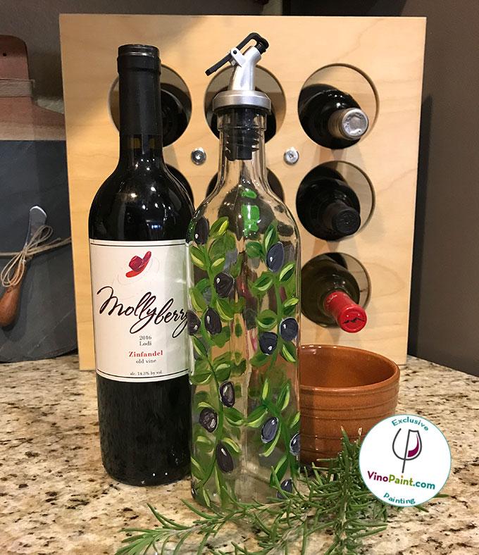 VinoPaint Exclusive - Olive Olive Bottle