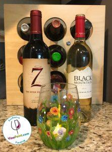 VinoPaint Exclusive - Summer Meadow Wine Glass
