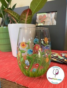 VinoPaint Exclusive - Spring Meadow Glass Painting