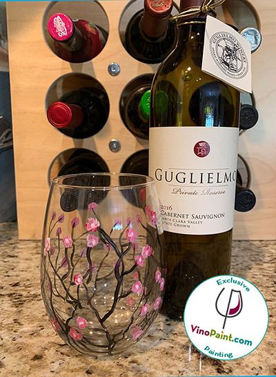 VinoPaint Exclusive - Almond Blossom Glass Guglielmo