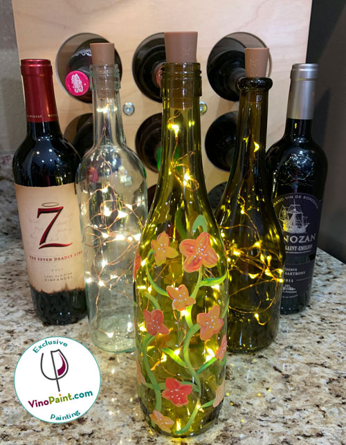 VinoPaint Exclusive - Harvest Sparkle Winebottle