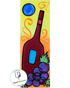VinoPaint Exclusive - Blue Moon Wine Splendor