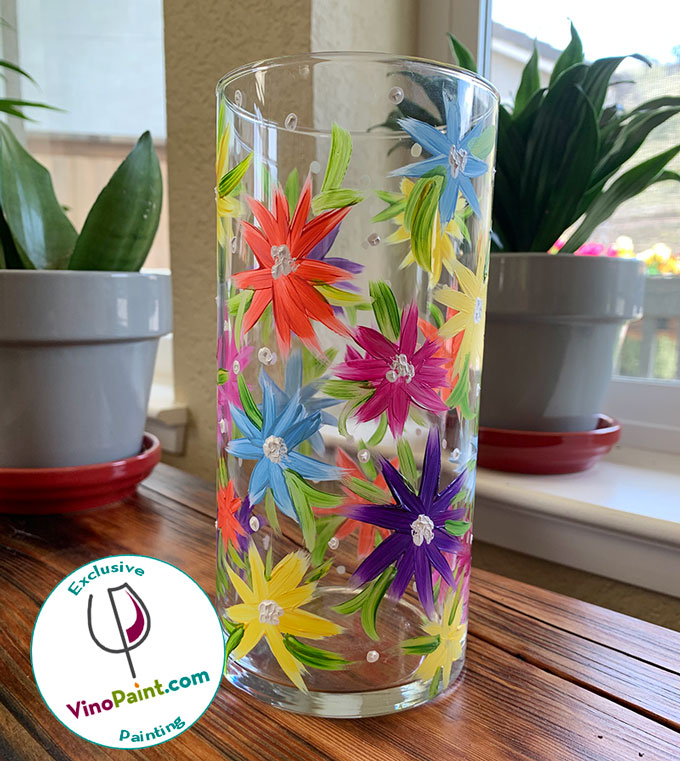 VinoPaint Exclusive - Spring Florals Glass Painting