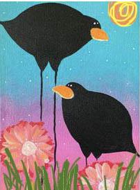 VinoPaint Exclusive - California Crows Mini