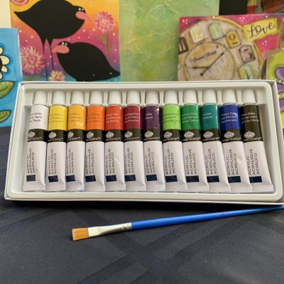 VinoPaint Exclusive - Personal 12 Color Acrylic Art Set