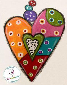 VinoPaint Exclusive - Art Attack Heart