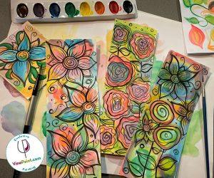 VinoPaint Exclusive - Mod Florals Watercolor Workshop