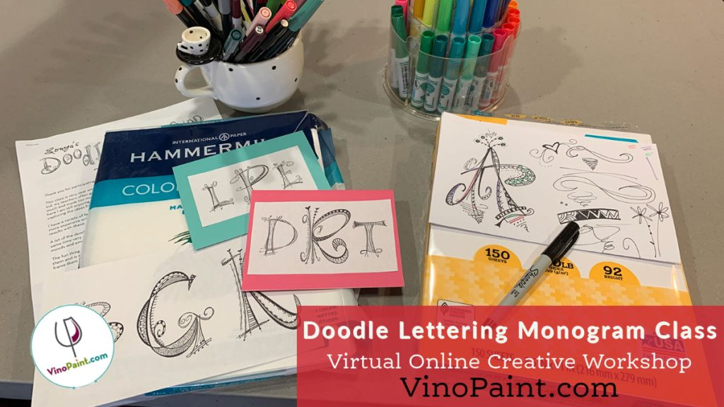 VinoPaint Exclusive - Doodle Lettering Class