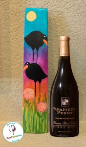 VinoPaint Exclusive - Wine Valley Barrel Stave California Crows