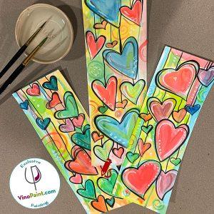 VinoPaint Exclusive - Raining Hearts Watercolor Workshop
