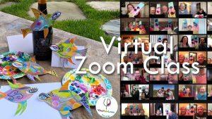 VinoPaint Virtual Creative Events - Sassy Fishes