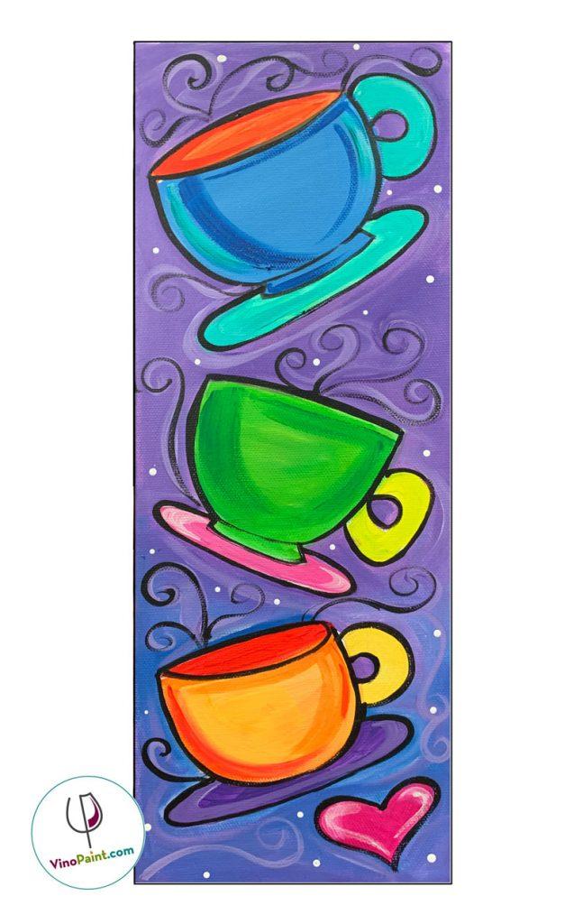 VinoPaint Virtual Creative Events - Too Much Coffee!