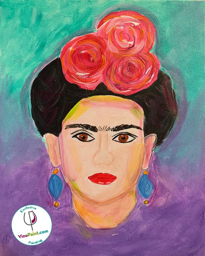 VinoPaint Virtual Creative Events - Frida!