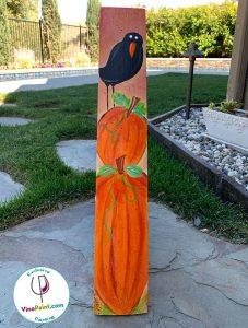 VinoPaint Virtual Creative Events - Barrel Stave Pumpkins