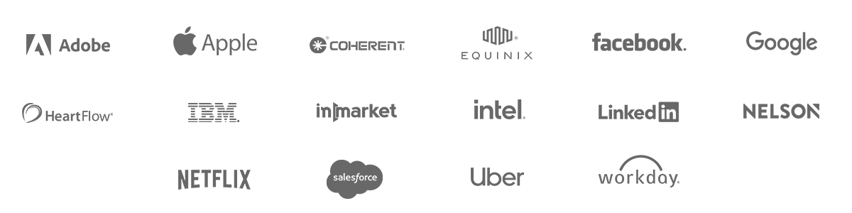Some of our Happy VinoPaint Clients include: Adobe, Apple Computer, Coherent, Equinix, Facebook, Google, HeartFlow, IBM, InMarket, Intel, LinkedIn, Nelson Worldwide, Netflix, Salesforce, Uber, Workday, Lupus Foundation of Northern California